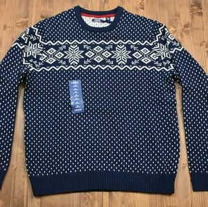 Izod Fairisle Holiday Sweater